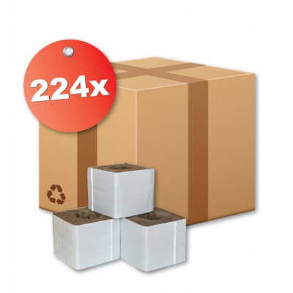 Kamena vuna - 7,5 x 7,5 x 6,5 cm - velika rupa - karton 224 kom